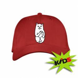 Детская кепка Кот с факом - PrintSalon