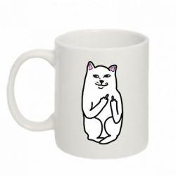 Кружка 320ml Кот с факом - PrintSalon