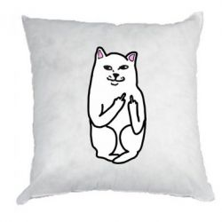 Подушка Кот с факом - PrintSalon