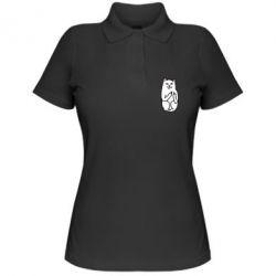 Женская футболка поло Кот с факом - PrintSalon