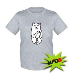 Детская футболка Кот с факом - PrintSalon
