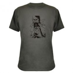 Камуфляжная футболка Козачина з люлькою - PrintSalon
