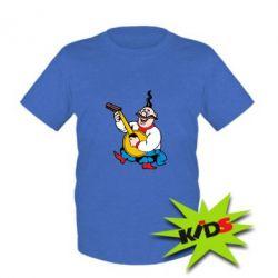 Детская футболка Козак с бандурой - PrintSalon