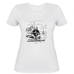 Женская футболка Козак та кінь - PrintSalon