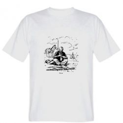 Мужская футболка Козак та кінь - PrintSalon