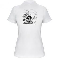 Женская футболка поло Козак та кінь - PrintSalon