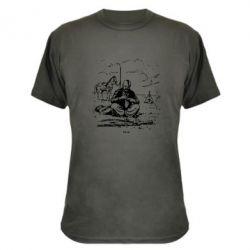 Камуфляжная футболка Козак та кінь - PrintSalon