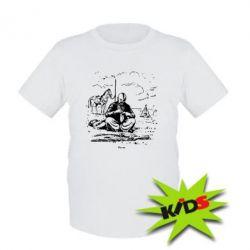 Детская футболка Козак та кінь - PrintSalon