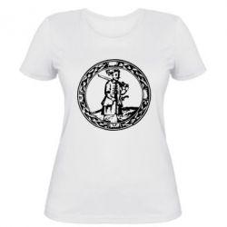 Женская футболка Козак з мушкетом - PrintSalon