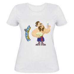 Женская футболка Козак з варениками