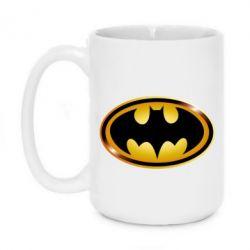 Кружка 420ml Batman logo Gold - PrintSalon