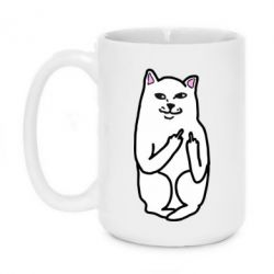 Кружка 420ml Кот с факом - PrintSalon