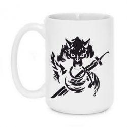 Кружка 420ml Волк с мечем