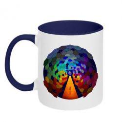 Кружка двухцветная Абстракция