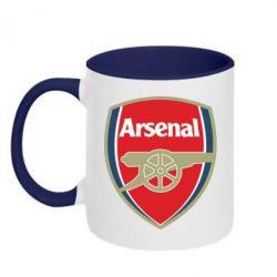Кружка двухцветная Arsenal - PrintSalon