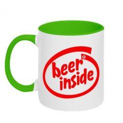 Кружка двухцветная Beer Inside - PrintSalon