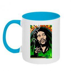 Кружка двухцветная Боб Марли