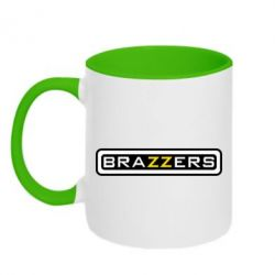 Кружка двухцветная Brazzers - PrintSalon