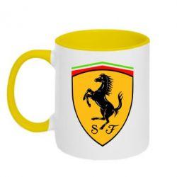Кружка двухцветная Ferrari