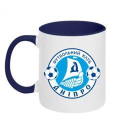 Кружка двухцветная ФК Днепр - PrintSalon