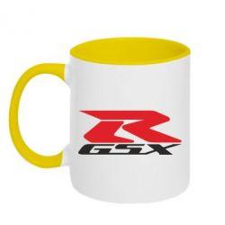 Кружка двухцветная GSX-R
