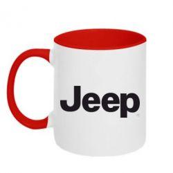 Кружка двухцветная Jeep
