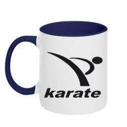 Кружка двухцветная Karate