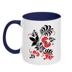 Кружка двухцветная Квіти - PrintSalon