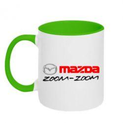 Кружка двухцветная Mazda Zoom-Zoom