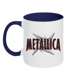 Кружка двухцветная Metallica Logo - PrintSalon
