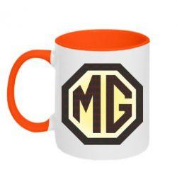 Кружка двухцветная MG Cars Logo