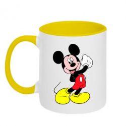 Кружка двухцветная Микки Маус