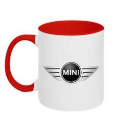 Кружка двухцветная Mini Cooper