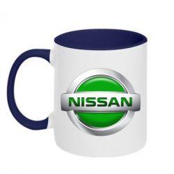 Кружка двухцветная Nissan Green