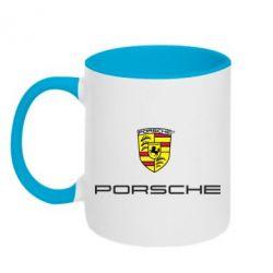 Кружка двухцветная Porsche - PrintSalon