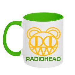 Кружка двухцветная Radiohead