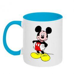 Кружка двухцветная Сool Mickey Mouse - PrintSalon