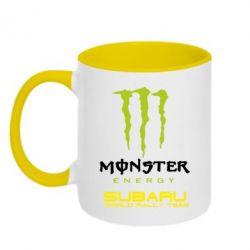 Кружка двухцветная Subaru Monster Energy