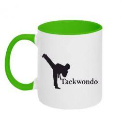 Кружка двухцветная Taekwondo