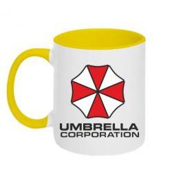 Кружка двухцветная Umbrella - PrintSalon