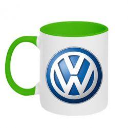 Кружка двухцветная Volkswagen 3D Logo