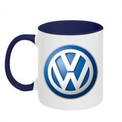 Кружка двухцветная Volkswagen Small Logo