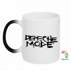 Кружка-хамелеон Depeche mode - PrintSalon