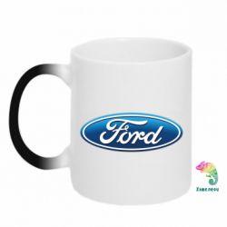 Кружка-хамелеон Ford 3D Logo - PrintSalon