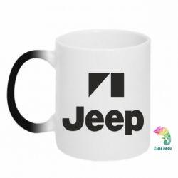 Кружка-хамелеон Jeep Logo