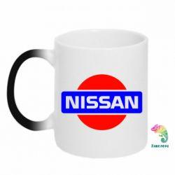 Кружка-хамелеон Logo Nissan