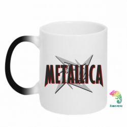 Кружка-хамелеон Metallica Logo - PrintSalon