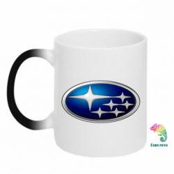 Кружка-хамелеон Subaru 3D Logo