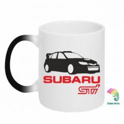 Кружка-хамелеон Subaru STI