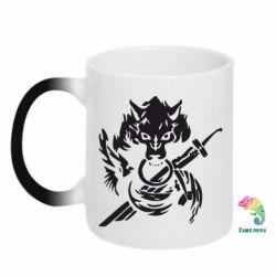 Кружка-хамелеон Волк с мечем